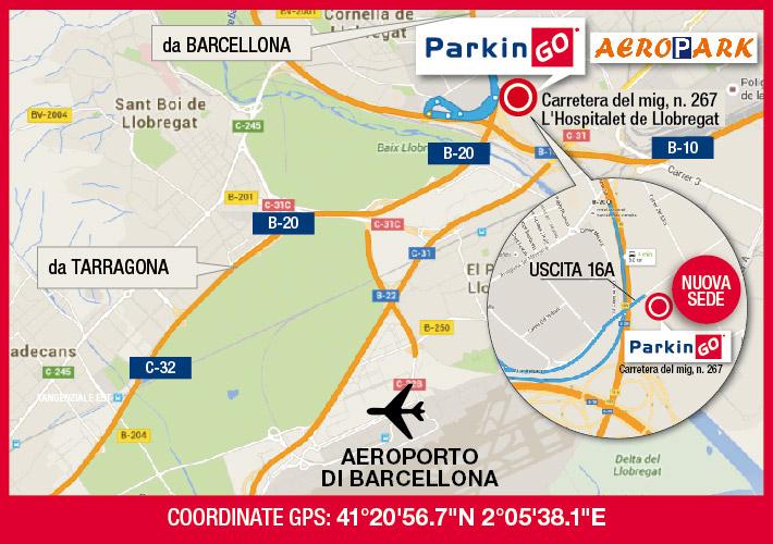 cartina parkingo parcheggio barcellona aeroporto