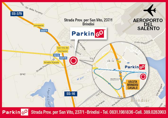 cartina parkingo parcheggio brindisi aeroporto