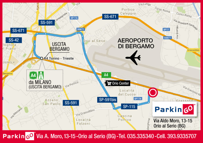 cartina parkingo parcheggio bergamo aeroporto