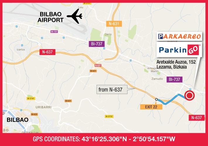 cartina parkingo parcheggio bilbao aeroporto