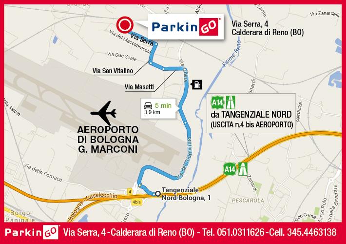 cartina parkingo parcheggio bologna aeroporto