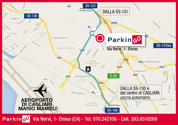 cartina parkingo parcheggio cagliari aeroporto