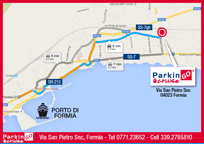 cartina parkingo parcheggio formia porto