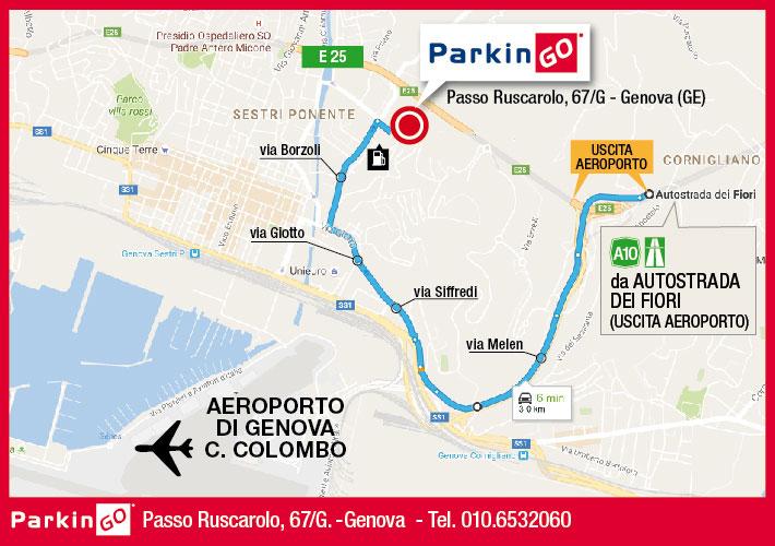 cartina parkingo parcheggio genova aeroporto