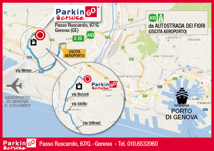 cartina parkingo parcheggio genova porto
