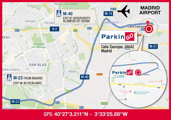 cartina parkingo parcheggio madrid aeroporto