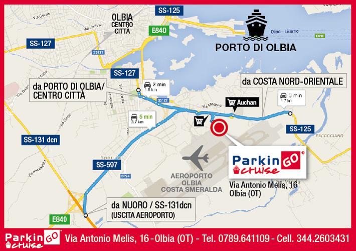 cartina parkingo parcheggio olbia porto