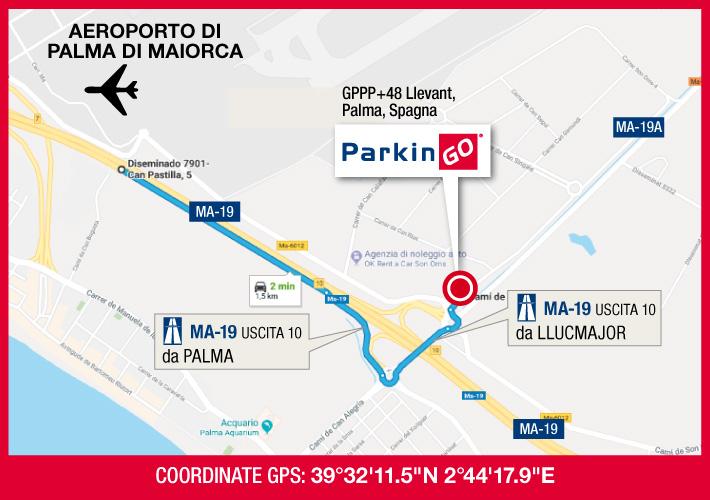 cartina parkingo parcheggio palma di maiorca aeroporto