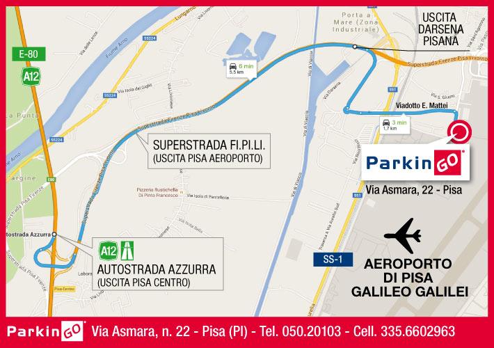cartina parkingo parcheggio pisa aeroporto