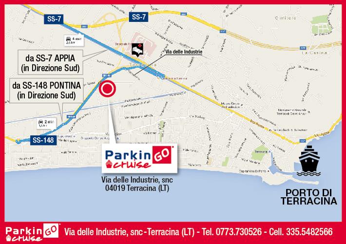 cartina parkingo parcheggio terracina porto