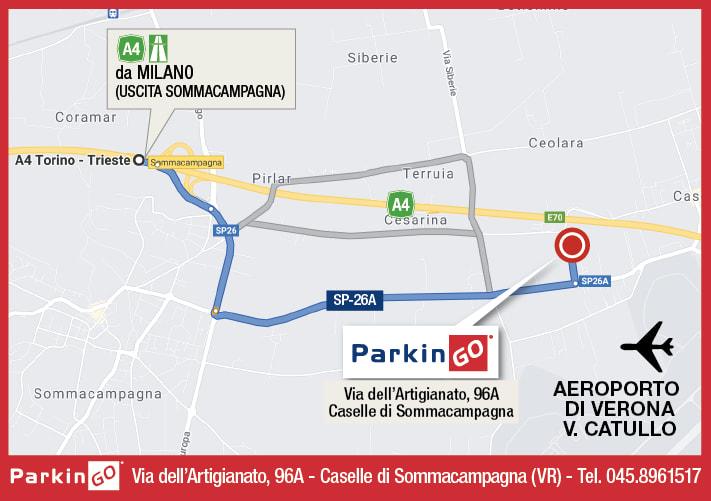 cartina parkingo parcheggio verona aeroporto