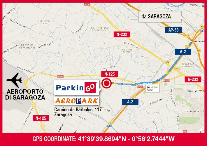 cartina parkingo parcheggio saragoza aeroporto