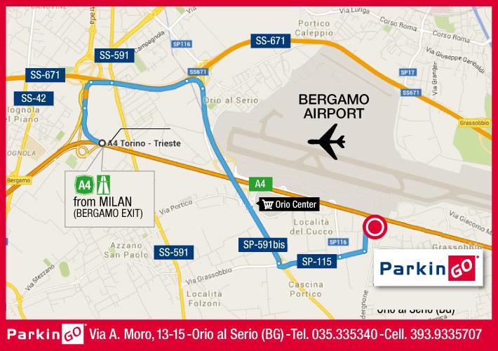Airport Orio Al Serio : Your car park at airport of bergamo orio al serio parkingo