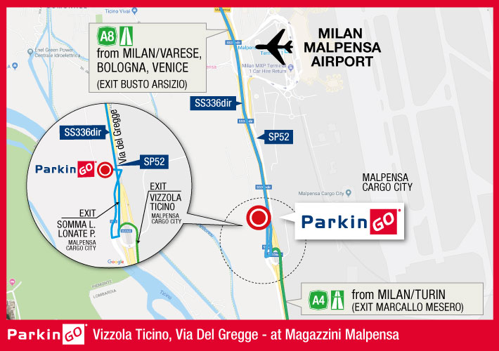 map parking parkingo malpensa airport
